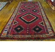 Link to 4' 9 x 10' 5 Shiraz-Lori Persian Runner Rug