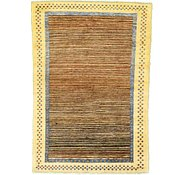 Link to 4' x 5' 8 Striped Modern Ziegler Oriental Rug