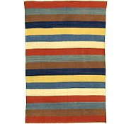 Link to 5' 9 x 8' 5 Striped Modern Kilim Rug