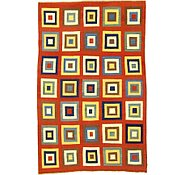 Link to 6' 6 x 10' 1 Checkered Modern Kilim Rug
