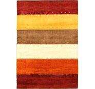 Link to 4' x 5' 10 Loribaft Gabbeh Oriental Rug