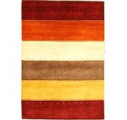Link to 4' x 5' 9 Loribaft Gabbeh Oriental Rug