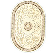 Link to 4' x 6' Carved Aubusson Oval Rug