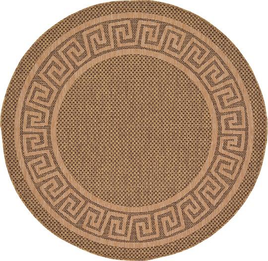 Brown  Outdoor Round Rug Area Rugs Irugs Uk